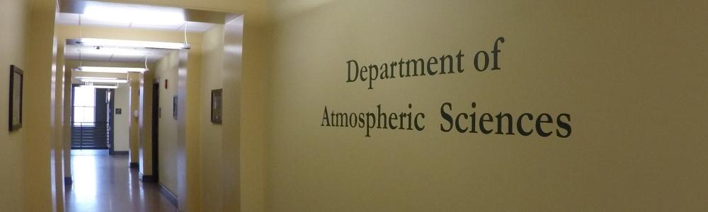 Atmospheric Science hallway