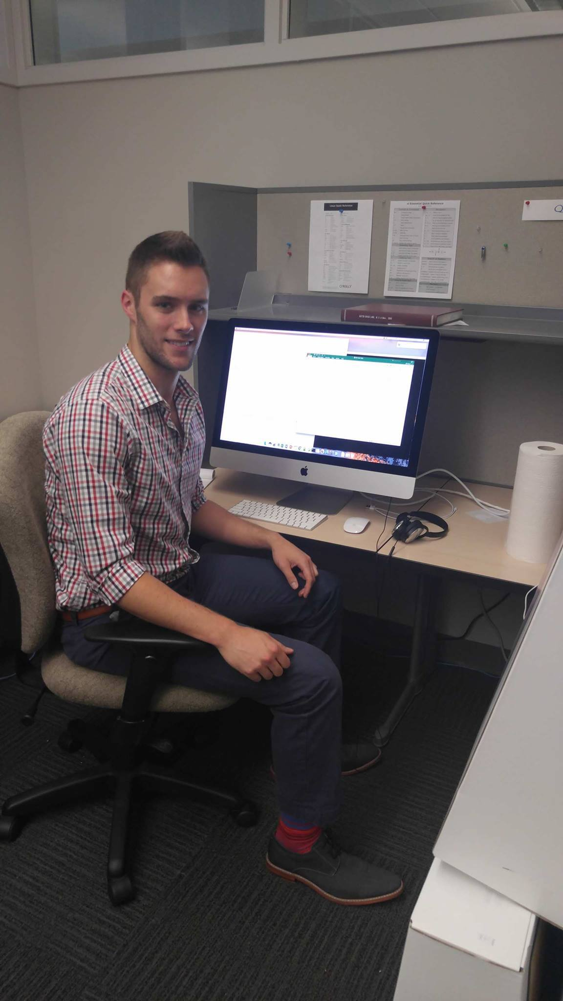 Robert Van Kleeck participated in the Research Experience for Undergraduates (REU) program at the University of Oklahoma where he researched thunderstorm heat bursts.